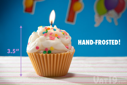 Each Jumbo Cupcake Candle is made by hand in the USA.