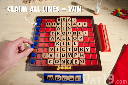 You can win the game by claiming all nine lines.
