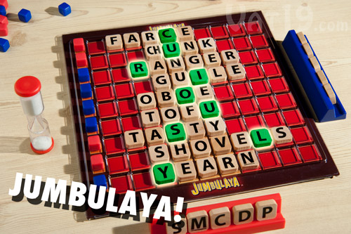 Find a Jumbulaya to end the game.