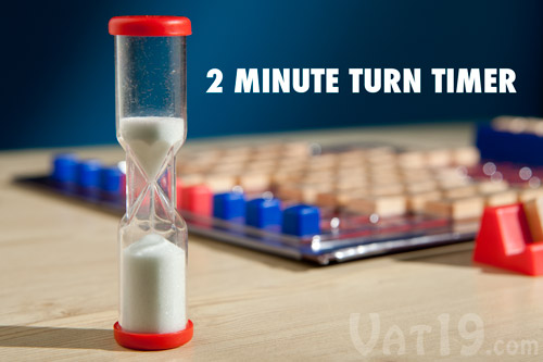 Each player only has two minutes to complete their turn.
