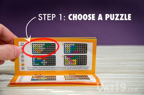 Kanoodle Step 1: Choose a Puzzle
