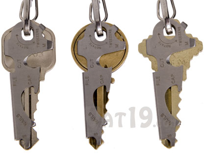 The KeyTool fits nearly any standard house key.