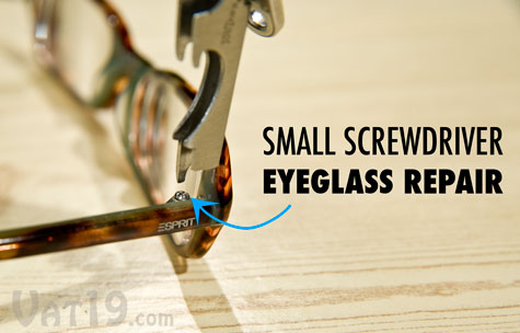 The KeyTool features a small screwdriver that is perfect for eyeglass repair.