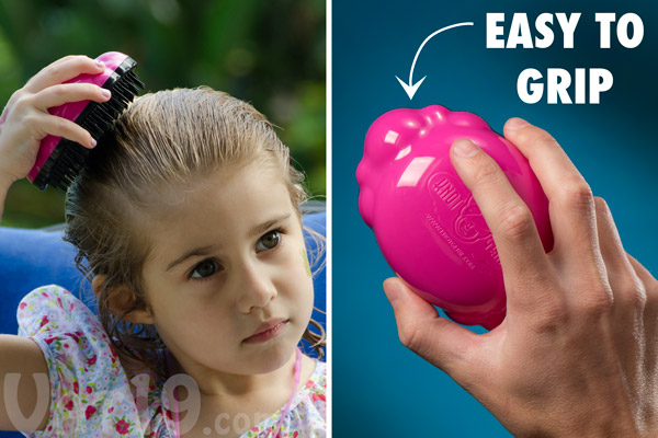 The cloud shape of the Knot Genie makes it easy for children to hold.