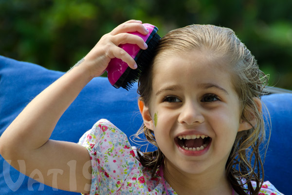 Young children will beg to brush their own hair with the Knot Genie.