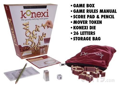 Konexi Game Box Contents.