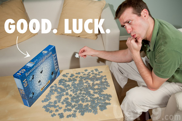 Krypt Jigsaw Puzzle is extremely challenging.