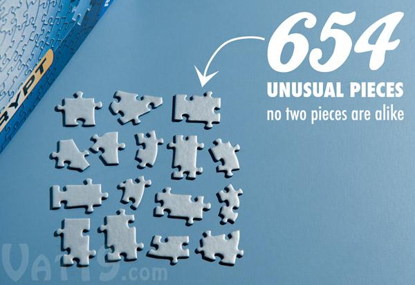 The Krypt Jigsaw Puzzle features 654 unique pieces.