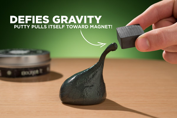 Magnetic Thinking Putty defies gravity