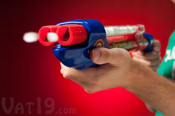 Marshmallow Double-Barreled Shotgun