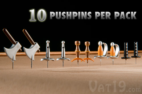 Each pack of Medieval Weapons Pushpins includes 10 classic weapon    Medieval Times Weapons For Kids