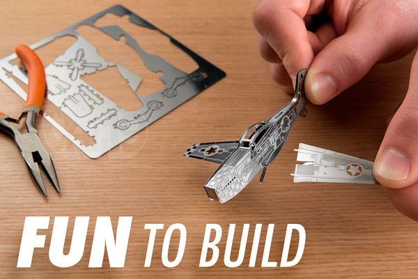 Half the enjoyment of Metal Works Models is building them yourself.
