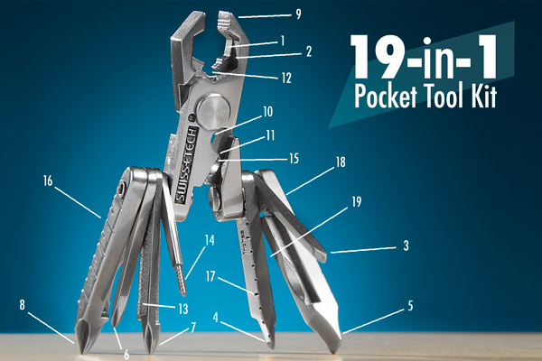 Anatomy of the 19-in-1 Multi-Tool MicroMax.