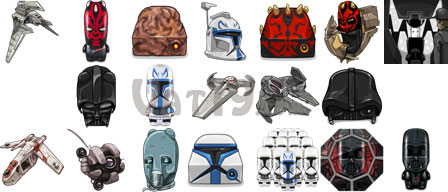 A set of 20 avatars is included on each Star Wars USB Flash Drive
