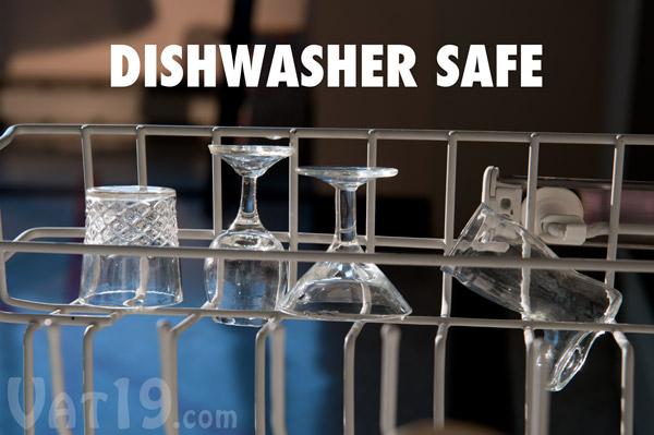 Mini Cocktail Shot Glasses are dishwasher safe.