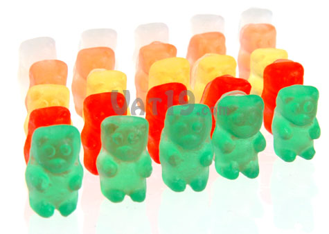 Mini Gummy Bear Soaps look and smell like the real thing