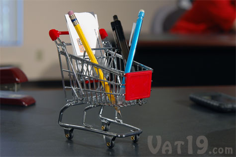 Mini Shopping Cart Desk Organizer