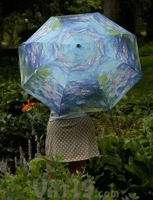 Claude Monet waterlilies umbrella