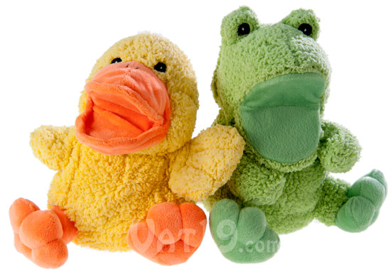 Hand Puppets available in frog and duck styles