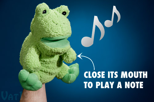 Musical Duck and Frog Hand Puppets