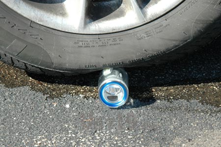 NIghtstar Flashlight was run over by a car