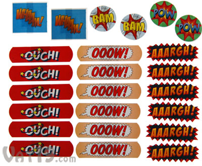 Ouch! Comic Strip Bandages 24 assorted