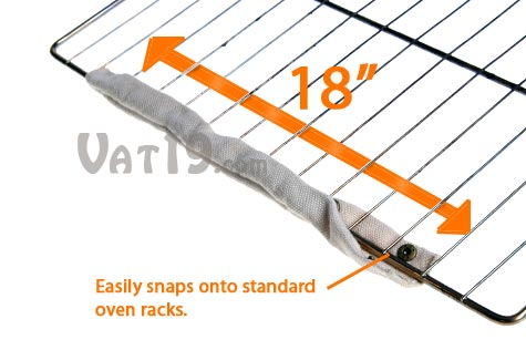 Cool Touch Oven Rack Guards are machine washable oven safe guards..