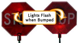 Park N Place lights flash when bumped