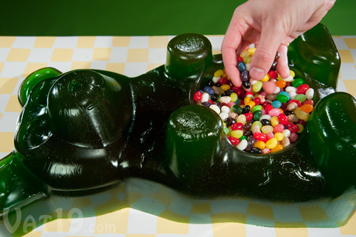 Fill the Party Gummy Bear with more candy!