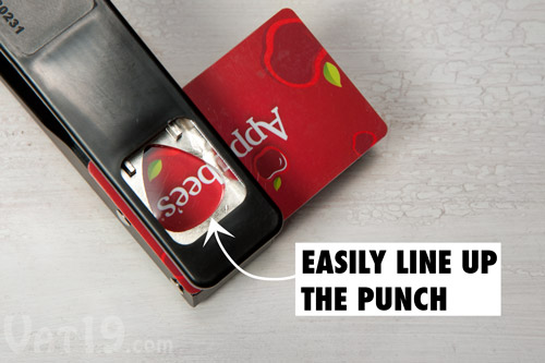 Easily see your pick pre-punch by flipping it over.