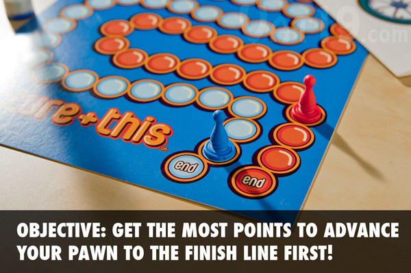 The Object of Picture+This is to get the most points in order to advance your token to the finish line first.