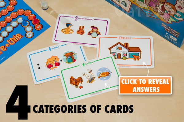 There are four categories of cards in Picture+This.