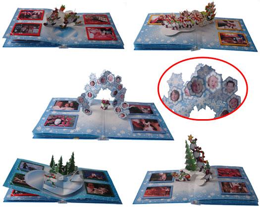 Christmas Pop-up Photo Album has five pages