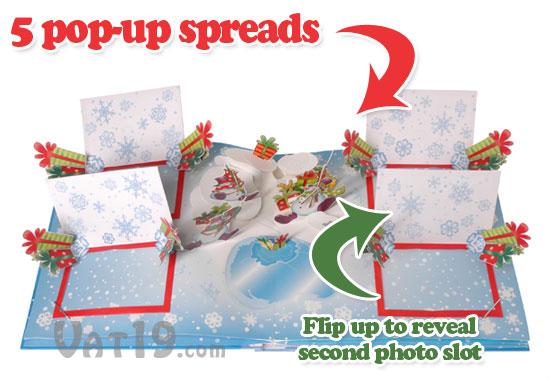 Photo album pop-up christmas