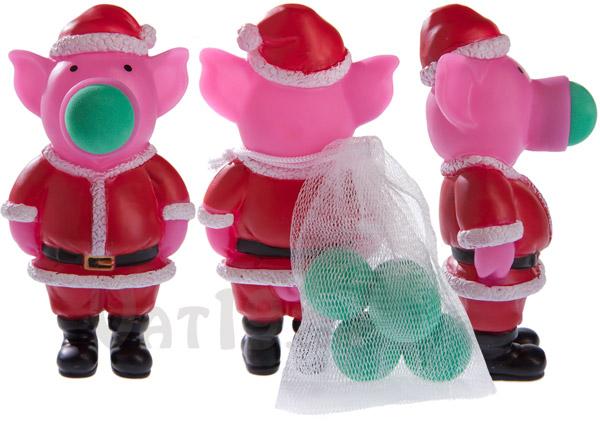 Santa Pig Popper from multiple angles.