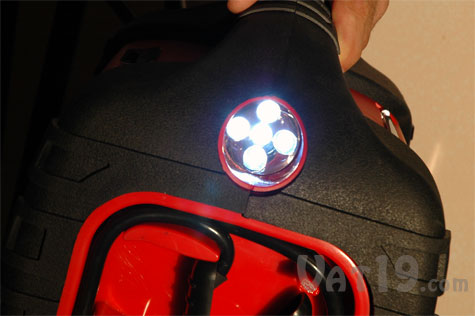 Power Dome EX features a 5 LED work light