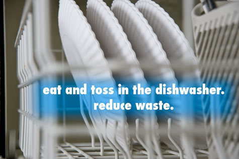Reusable Paper Plates are dishwasher safe.