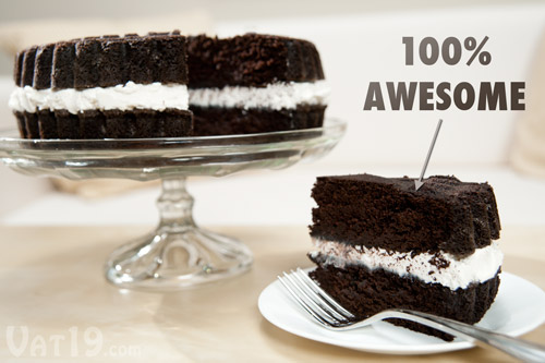 Sandwich Cookie Cake Pans Bake a cake that looks like a gigantic wafer ...