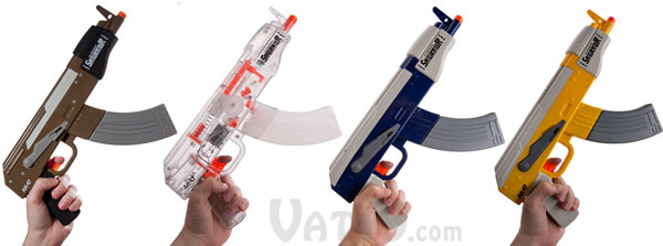 The Saturator AK-47 Water Gun is available in a variety of colors.