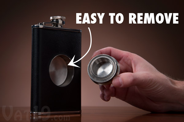 Simply remove the telescoping shot glass from the center of the flask.