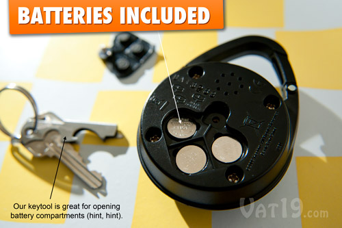 Mini Pocket Simon requires three AG-13 button cell batteries which are included.