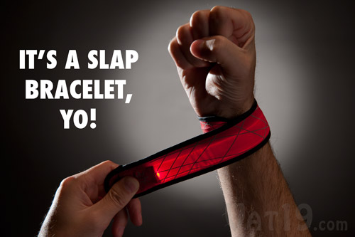 The SlapLit LED Slap Bracelet is a 90s style slap bracelet.