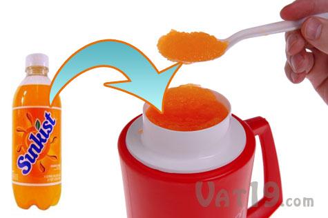 Slush Mug Slurpee maker turns your beverage into a homeade Slurpee