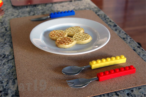 Snack and Stack portable utensil set