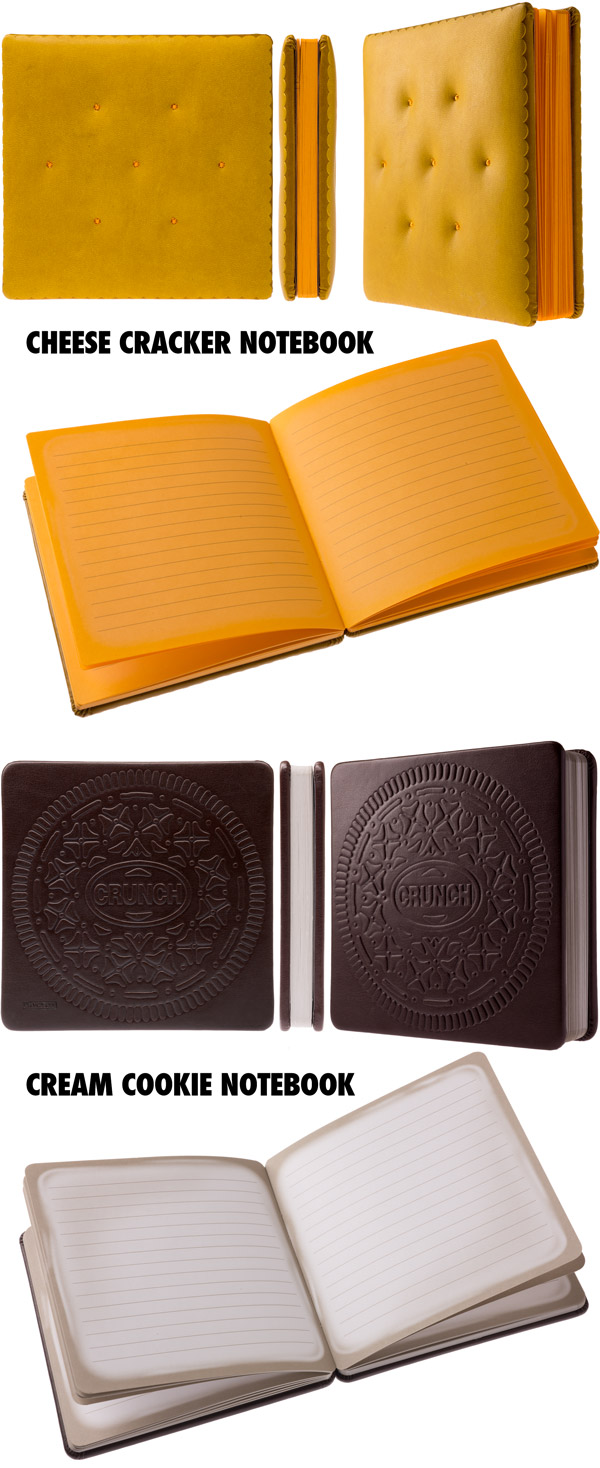 Snack Treat Notebooks are available in multiple styles.