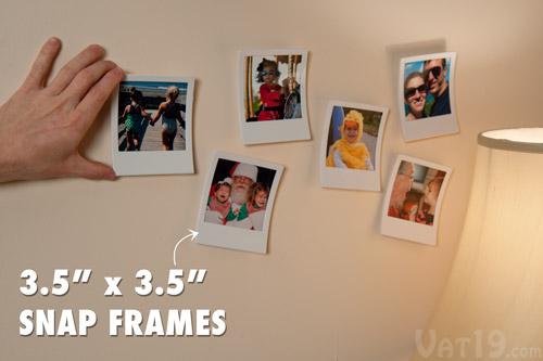 Snap Frames turn any photo into a permanent Polaroid.