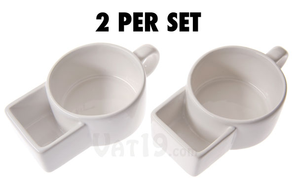 Each set of Soup & Cracker Mugs contains two mugs.
