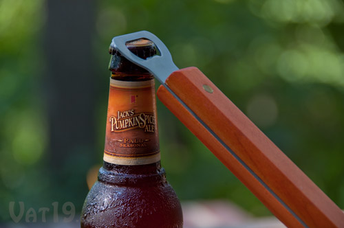 The Sportula features a bottle opener at the end of the handle.