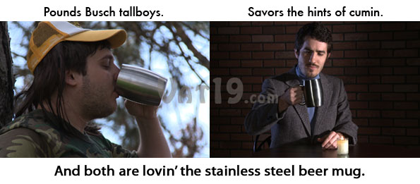 All types of beer drinkers will love the Stainless Steel Beer Mug