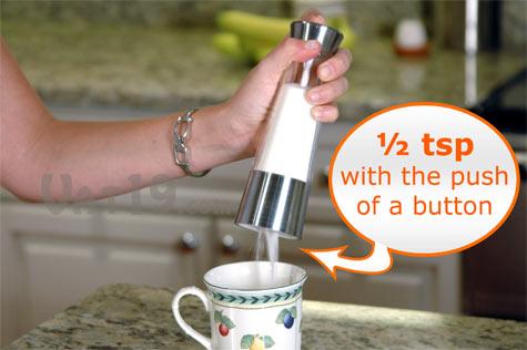 Automatic Sugar Dispenser dispenses 1/2 tsp